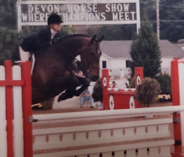 Leslie Competing at Devon